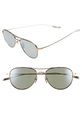 Women's Salt 'Meadows' 54Mm Polarized Aviator Sunglasses Brushed Honey Gold