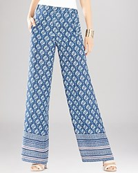 Bcbgmaxazria Joan Printed Wide Leg Pants Dk Ink Combo