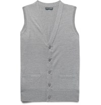 Thom Sweeney Virgin Wool Vest Gray