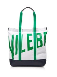 Vilebrequin Bertrand Canvas And Leather Beach Bag