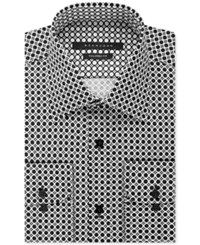 Sean John Men's Black Circle Print Dress Shirt