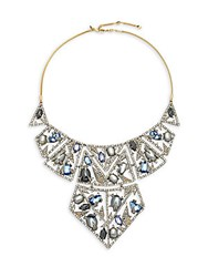 Alexis Bittar Crystal Encrusted Bib Necklace Silver