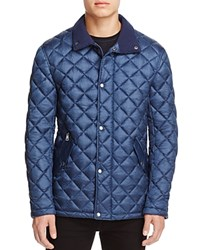 Cole Haan Diamond Quilted Snap Jacket Navy