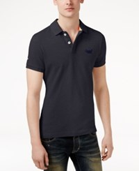 Superdry Men's Classic Fit Cotton Polo Eclipse Na