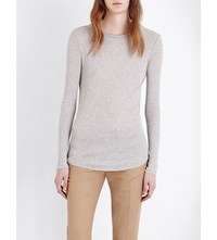 Joseph Ribbed Cotton And Cashmere Blend Top 287 Marble
