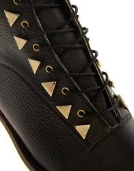 New Kid Penny Dreamcore Stud Black Lace Up Boot