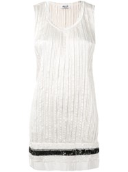 Aviu Distressed Pleated Vest Top Women Polyester 42 Nude Neutrals