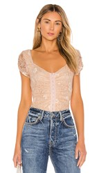 Astr The Label Love Me Not Bodysuit In Pink. Blush