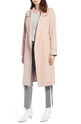 Halogen Double Breasted Trench Coat Blush