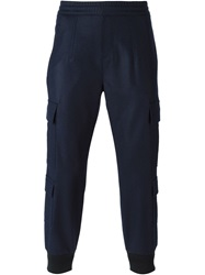 Neil Barrett Tapered Cargo Trousers Blue