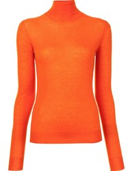 Joseph Turtleneck Jumper Yellow And Orange