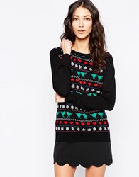Sugarhill Boutique Birdie Fairisle Jumper Black