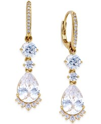 Eliot Danori Rhapsody Gold Tone Cubic Zirconia Drop Earrings