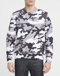 Sandro White And Black Ls Printed Sweatshirt