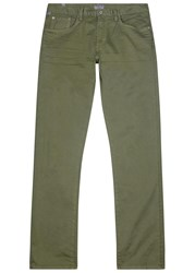Citizens Of Humanity Core Green Brushed Twill Chinos