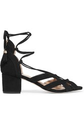 Michael Michael Kors Mirabel Suede Sandals Black