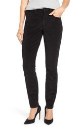 Nydj 'Alina' Skinny Stretch Corduroy Pants Black