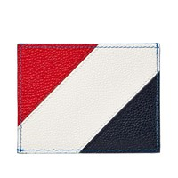 Thom Browne Diagonal Stripe Card Holder Blue