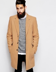 Asos Wool Overcoat Camel