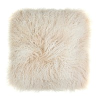A By Amara Tibetan Sheepskin Cushion 40X40cm Arctic Sunrise