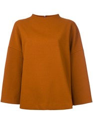Enfold Wide Neck Oversized Jumper Brown