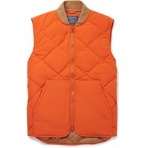 J.Crew Nordic Quilted Shell Gilet Orange