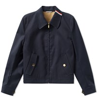 Thom Browne Taped Seam Mackintosh Harrington Jacket Blue