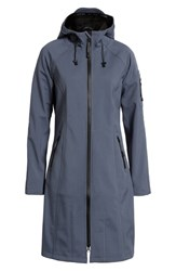 Ilse Jacobsen Long Hooded Raincoat Blue Grayness