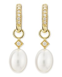 Jude Frances White Pearl Briolette Earring Charms Judefrances Jewelry White Yellow
