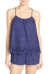Women's In Bloom By Jonquil Eyelet Cotton Camisole And Tap Shorts