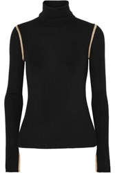 Equipment Mourelle Ribbed Wool Turtleneck Sweater Black