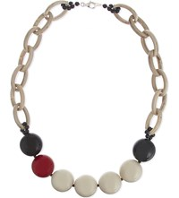 Armani Collezioni Bauble Bead Necklace Red Yellow