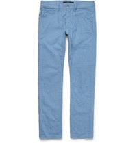 Incotex Slim Fit Washed Denim Jeans Blue