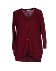 Henry Cotton's Cardigans Maroon