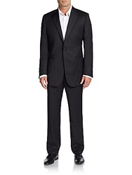 Saks Fifth Avenue Black Slim Fit Wool Blend Tuxedo Black