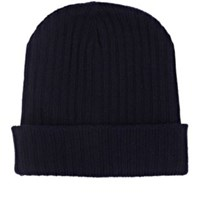 The Elder Statesman Men's Summer Cap Cashmere Beanie Navy