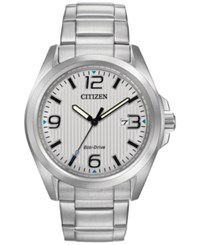 Citizen Men's Eco Drive Stainless Steel Bracelet Watch 43Mm Aw1430 86A