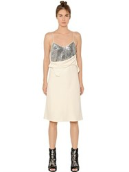 Maison Martin Margiela Fluid Dress With Sequined Panels