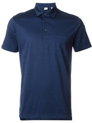 Aspesi Chest Pocket Polo Shirt Blue