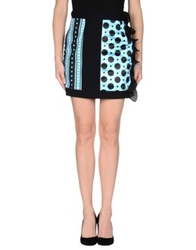 Emanuel Ungaro Mini Skirts Sky Blue