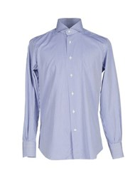 Mazzarelli Shirts Shirts Men Blue