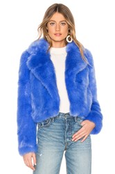 Lovers Friends Reed Cropped Jacket Blue