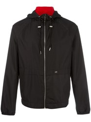 Christian Dior Homme Elasticated Cuffs Hooded Jacket Black