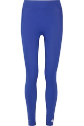 Tory Sport Cropped Stretch Jersey Leggings Blue