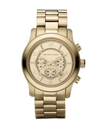 Golden Oversized Runway Watch Michael Kors Silver