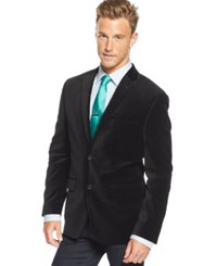 Alfani Red Slim Fit Velvet Sport Coat