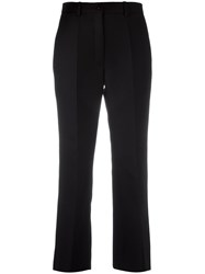Nina Ricci Wide Leg Cropped Trousers Black