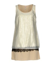 Scee By Twin Set Short Dresses Beige