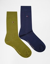 Tommy Hilfiger Classic Socks In 2 Pack Multi