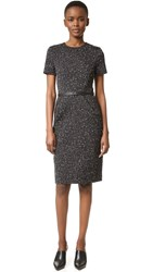 Narciso Rodriguez Cotton Jacquard Dress Black Ecru